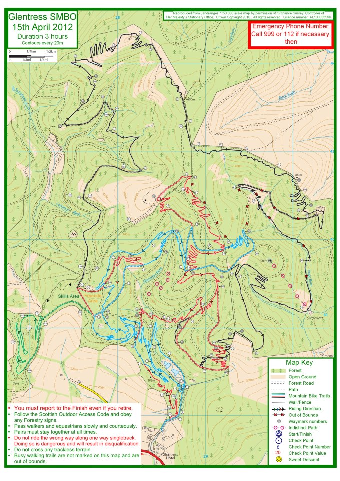 Map of Glentress